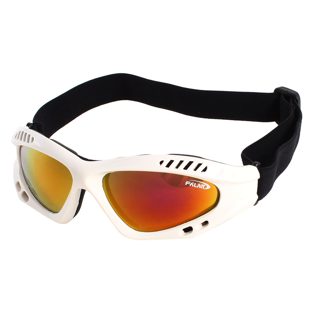Women Man White Frame Ski Snowboard Sports Goggles Safety Glasses Sunglasses