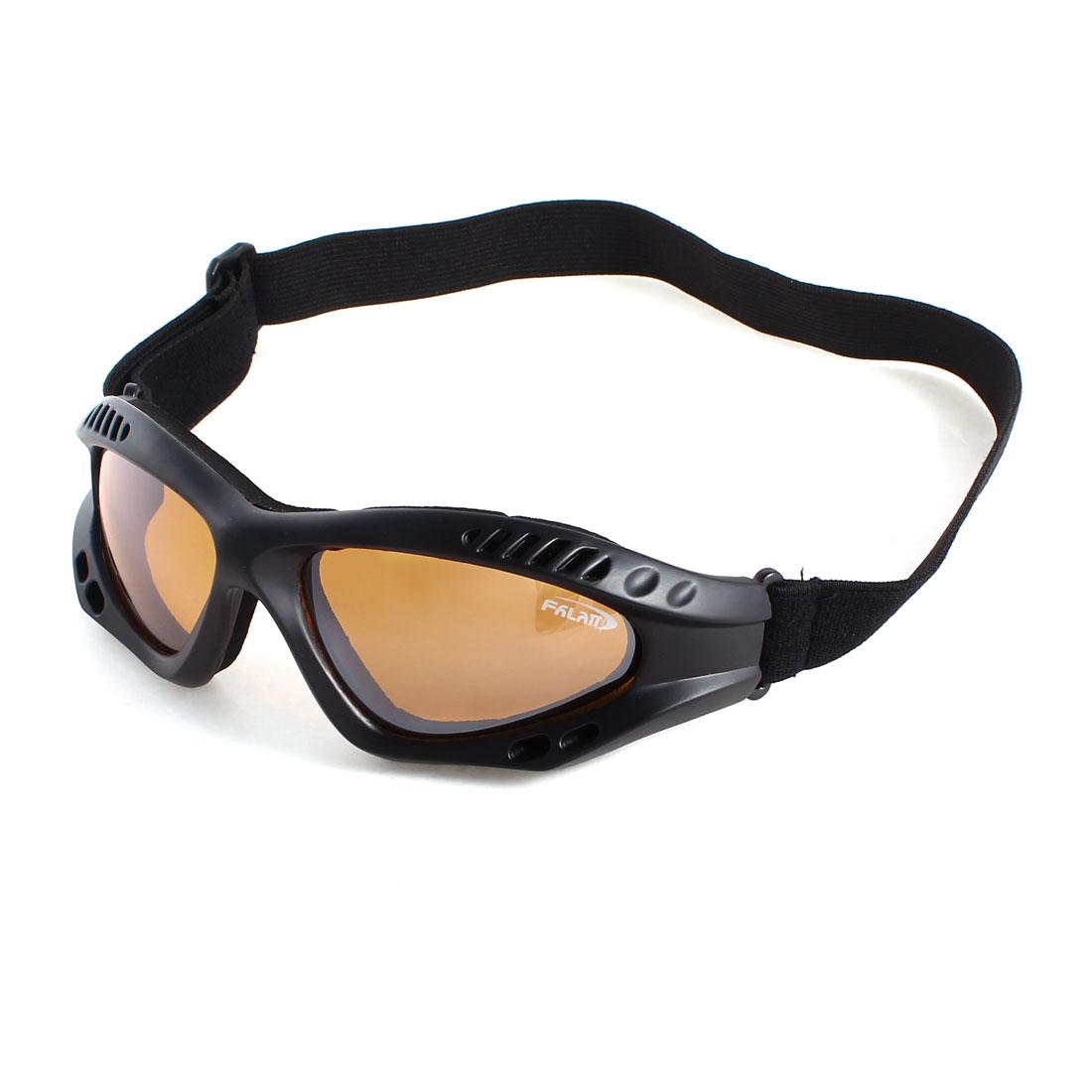Motorcycle Riding Ski Glasses Orange Lens Sunglasses Anti Fog Biker Goggle