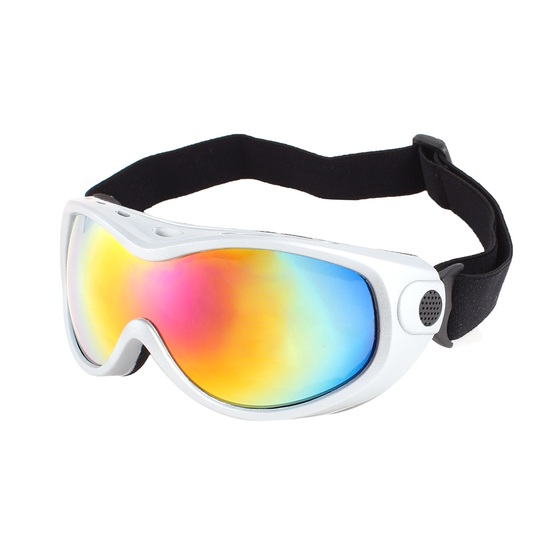 Ladies Men Colorful Airflow Lens Ventilation Safety Ski Snowboard Goggles Gray