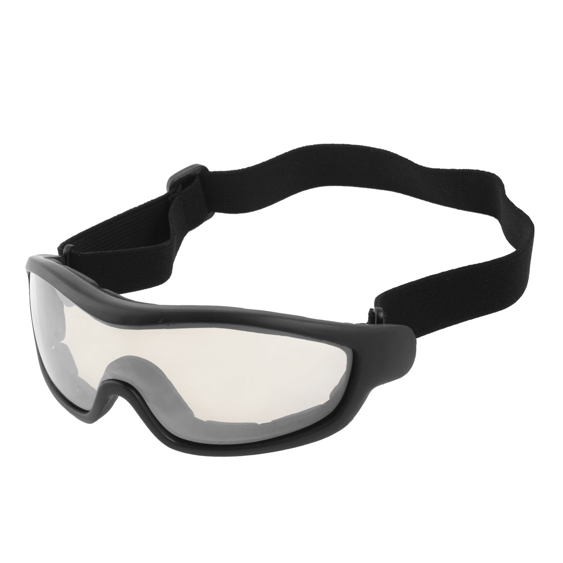 UV Protection Clear White Lens Ski Snowboard Skate Sports Goggles Glasses Black