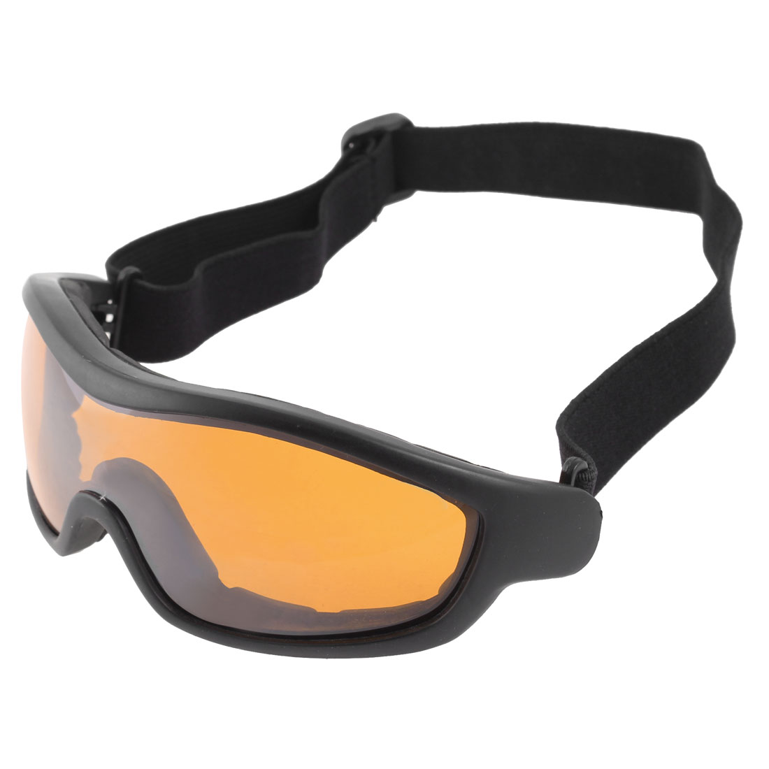 Adult Anti Fog Clear Orange Lens Motocross Ski Snowboard Sport Goggles Glasses