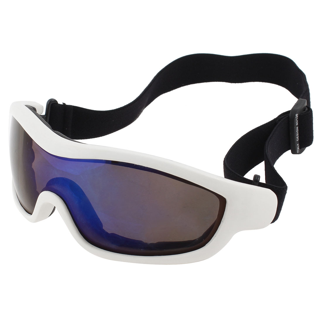 White Full Rim Clear Dark Blue Lens Ski Snowboard Sports Goggles Glasses UV400