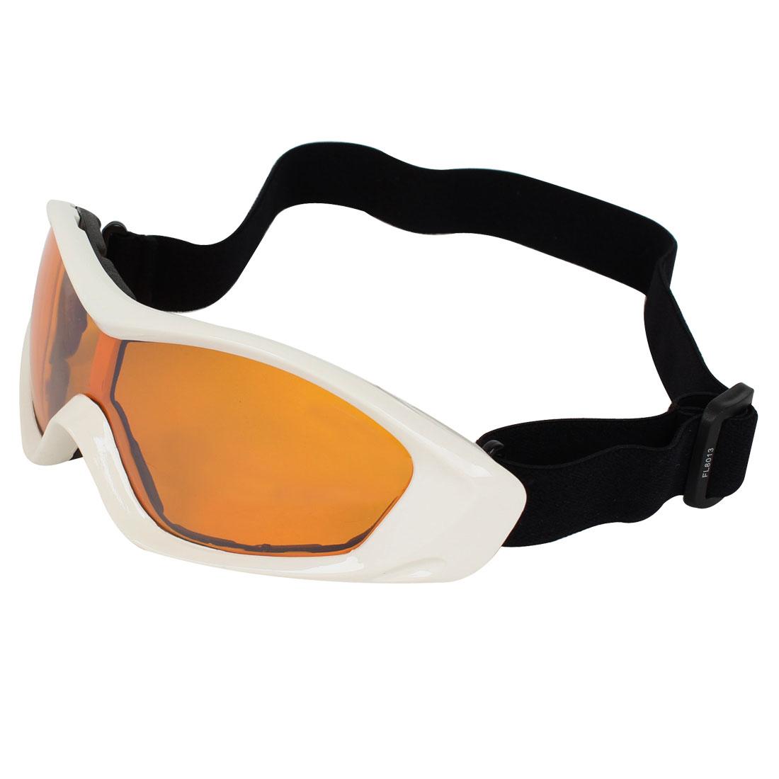 Outdoor Full Rim Clear Orange Lens Motocross Ski Snowboard Sport Goggles Glasses