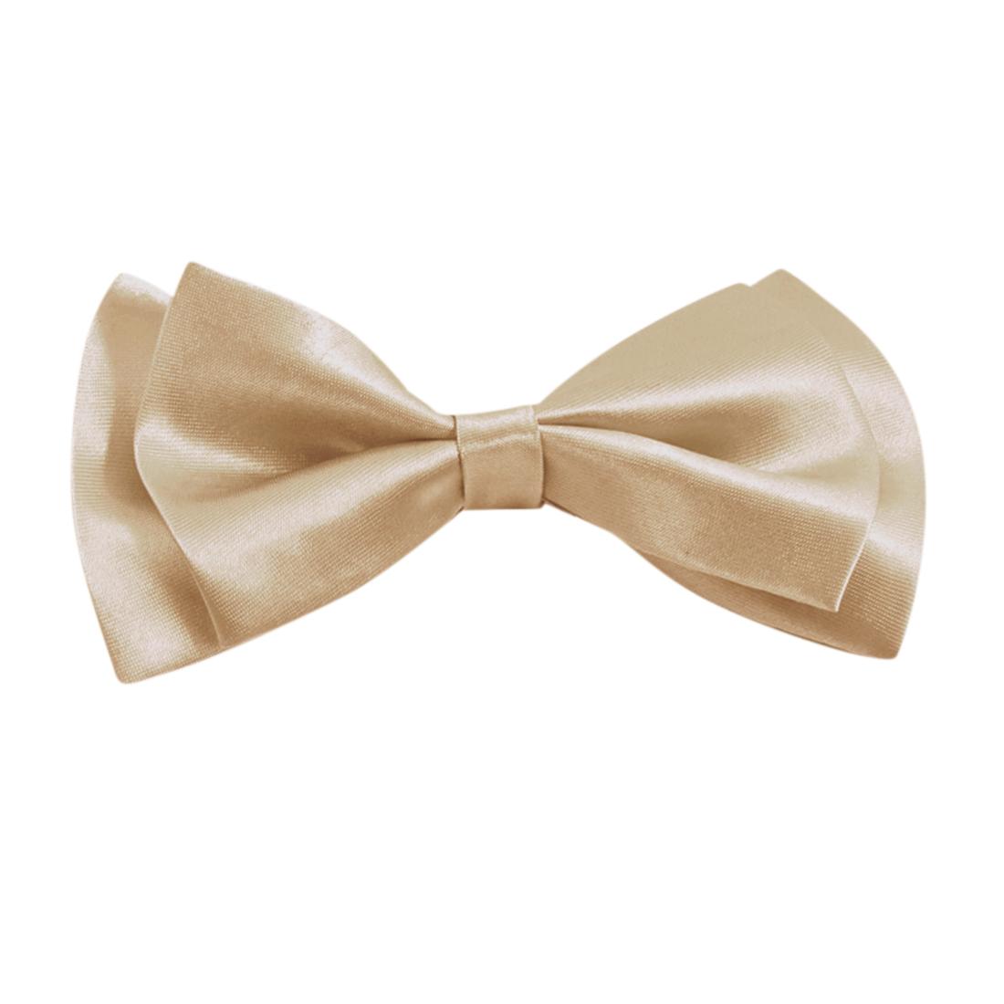 Champagne Color Adjustable Neck Strap Pre-tie Bowties Neck Decor for Men Women