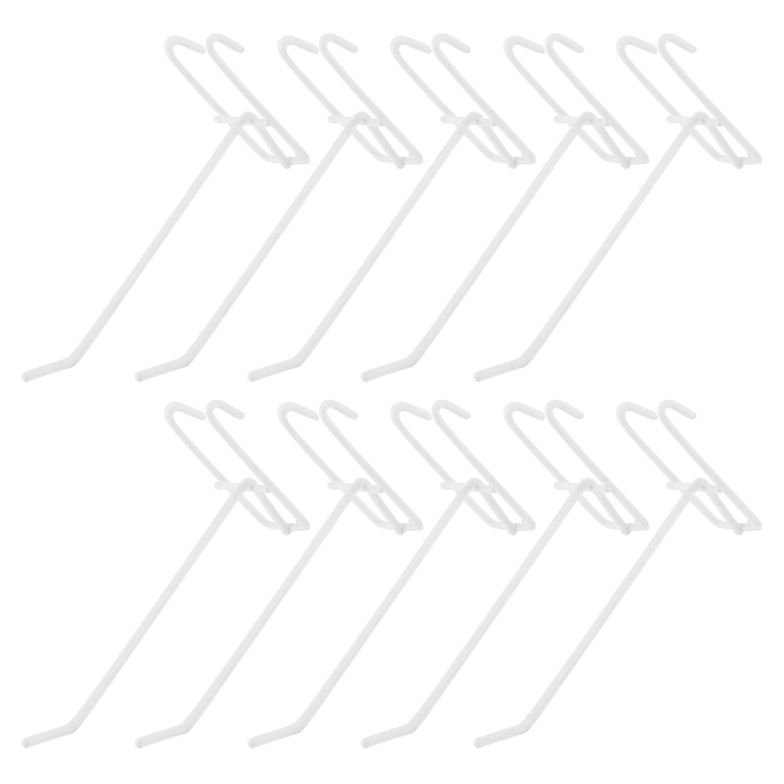 "10pcs Supermarket Store Portable Wall Bracket Display Hooks 5.7"" Long"
