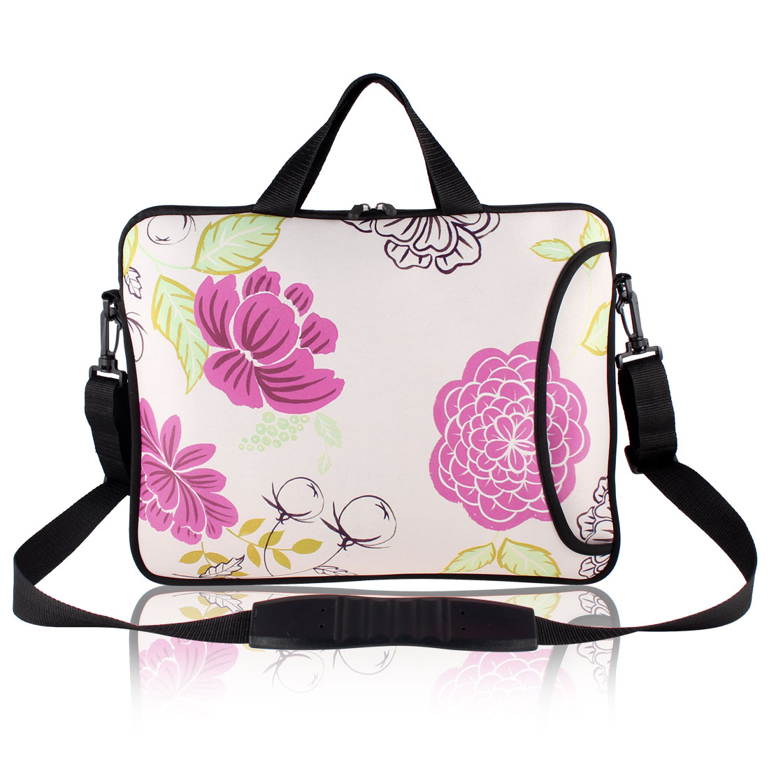 "Andree Flower Pattern 17"" 17.3"" 17.4"" Laptop Shoulder Handle Bag Pouch Cover"