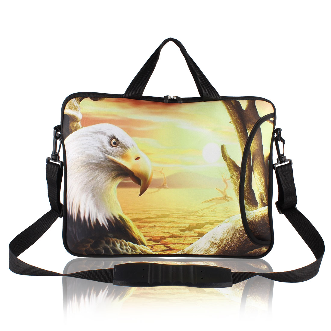 "Andree Eagle Print Laptop Shoulder Handle Bag Sleeve Case for 15"" 15.4"" 15.6"""