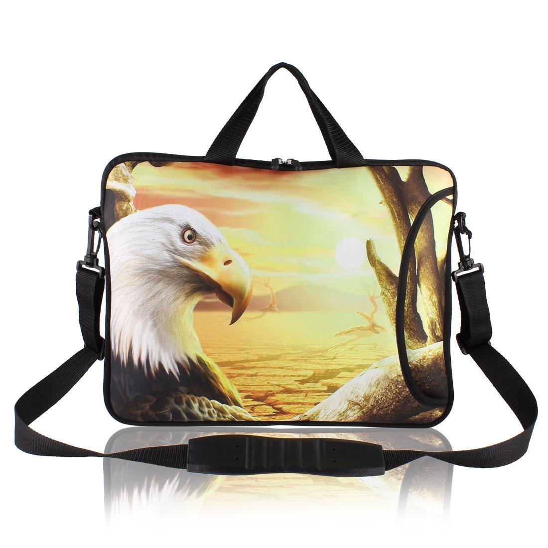 """Andree Eagle Print Laptop Shoulder Handle Bag Sleeve Case for 15"""" 15.4"""" 15.6"""""""