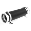 Car Auto Black Silver Tone Adjustable 9.5cm Dia Cold Flexible Air Intake Pipe