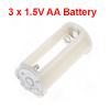 Off White Cylinder Battery Holder Adapter for 3x1.5V AA Batteries