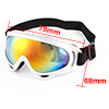 Men Ladies Silver Tone Wide Full Rim Colorul Lens Ski Snowboard Goggles Sunglasses
