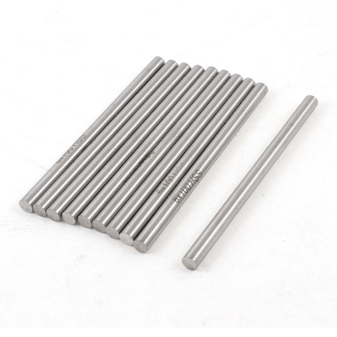 10 Pcs 6mm x 100mm HSS High Speed Steel Turning Bars for CNC Lathe