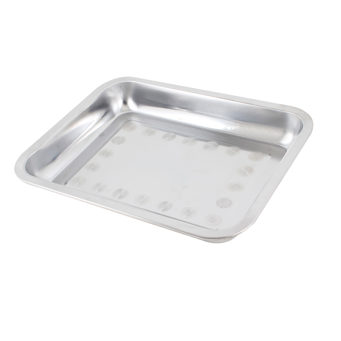 31cm x 26cm Rectangle Stainless Steel Food Medicine Plate Tray