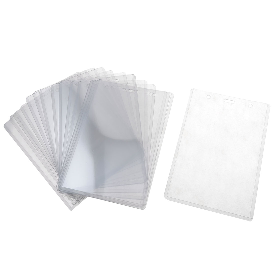 20 Pcs B4 Clear Hard Plastic Name ID Vertical Card Holders