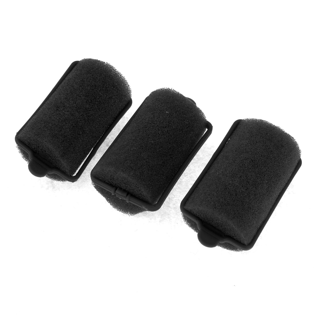 3 Pcs Black Sponge Curly Hairstyle DIY Hair Roller Curler