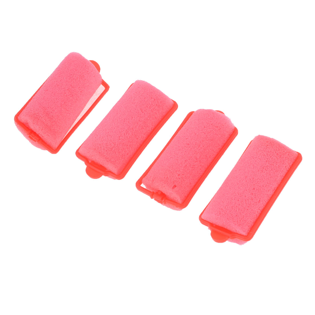 4 Pcs Watermelon Red Sponge Curly Hairstyle DIY Hair Roller Curler