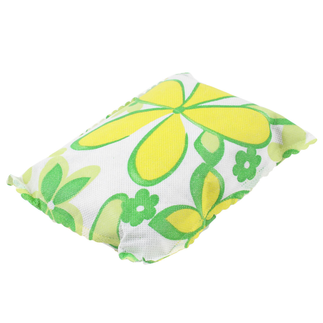 Car Air Cleaner Rectangle Shaped Floral Pattern Bamboo Charcoal Bag Green White