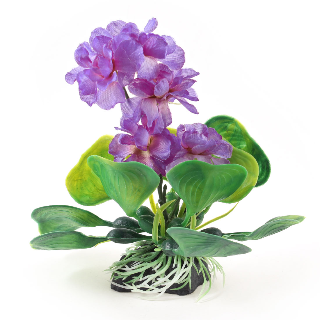 Purple Green Non Fabric Plastic Underwater Plant 14.5cm High Decor for Aquarium