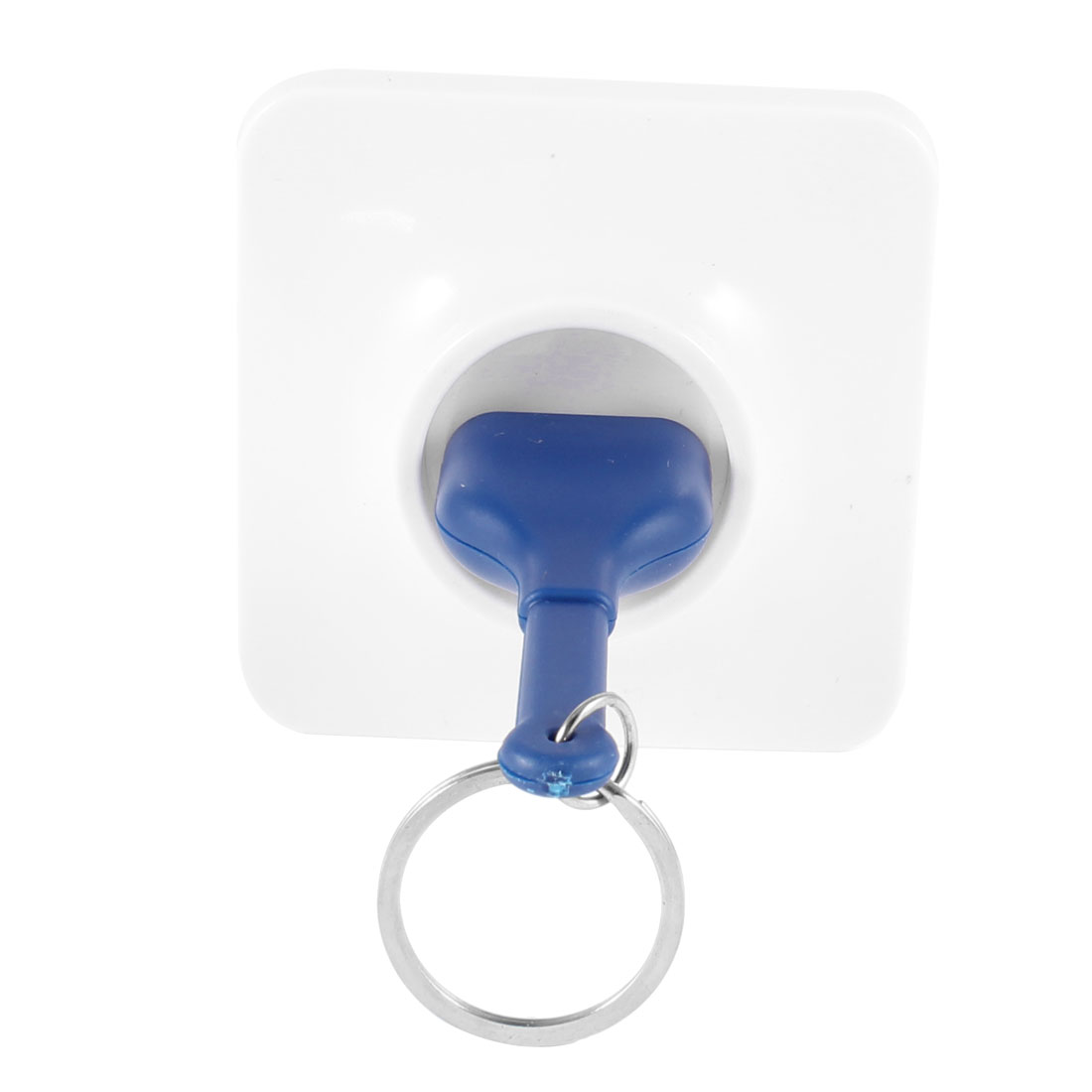 Blue Unplugged Unplug Socket Keyring Keychain Key Storage w White Base