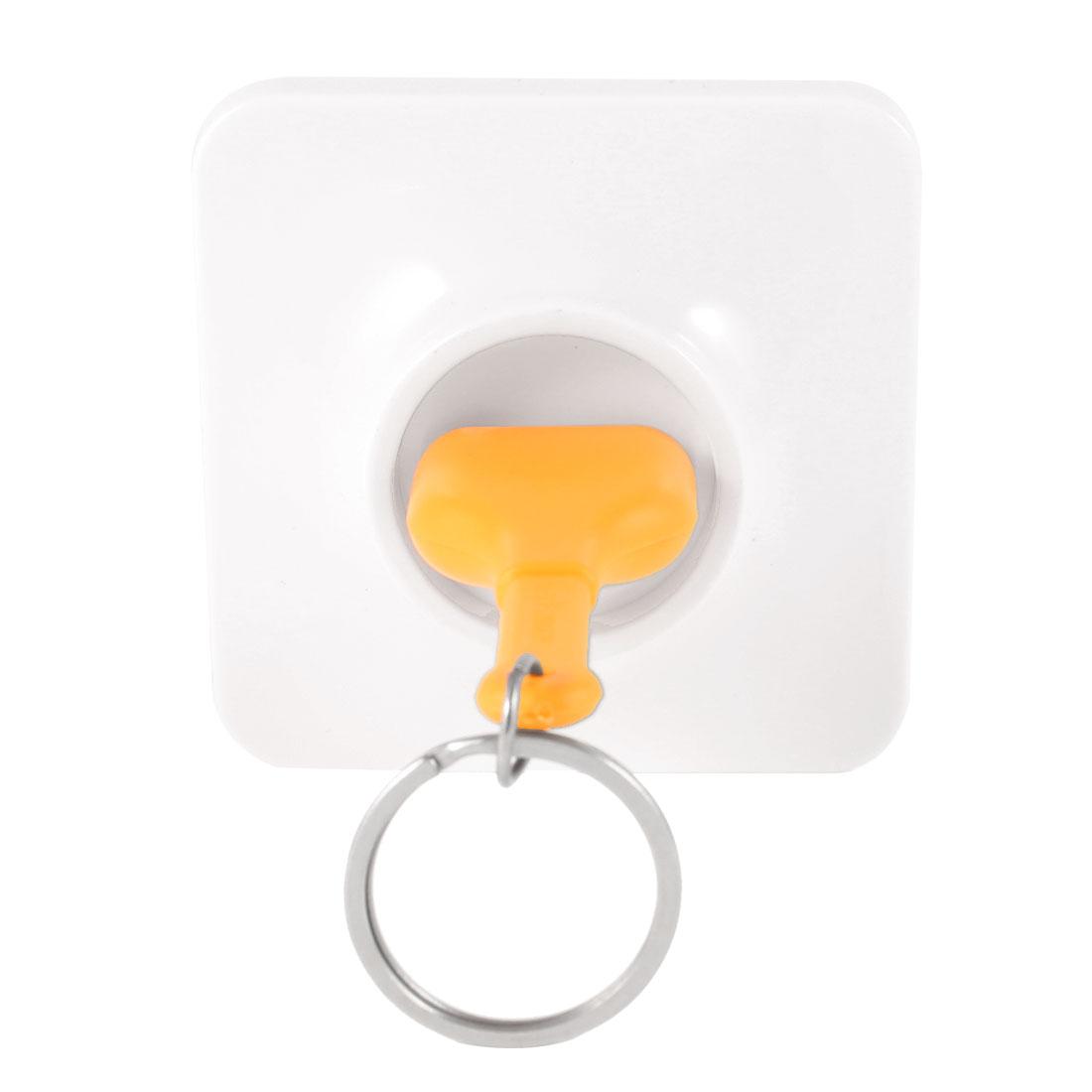 Yellow Unplugged Unplug Socket Keyring Keychain Key Storage w White Base