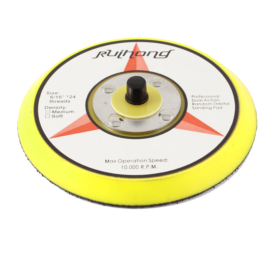 "Yellow Black Polishing Sanding Pad Car Tray 5"" for Pneumatic Machine"