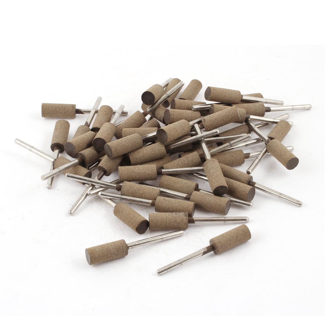 Dark Khaki 3mm Shank Mounted Grinding Point Set Sanding Sharpening Tool 50 Pcs
