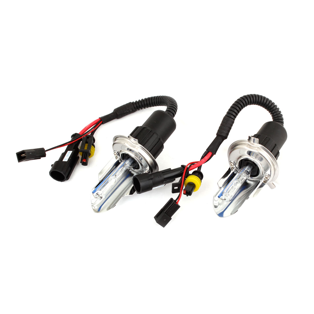 2 Pcs 35W 8000K HID Xenon H4 Headlight Bulbs for Vehicle Car