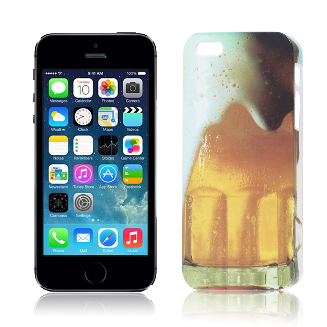 Assorted Color Beer Thirst Pattern Hard Back Case Cover for iPhone 5 5S