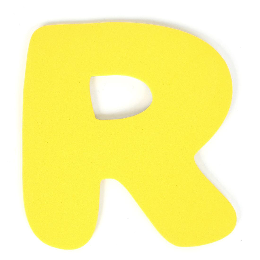 Home Bathroom Decor Letter R Shape Foam 3D Wall Sticker Decal DIY Yellow
