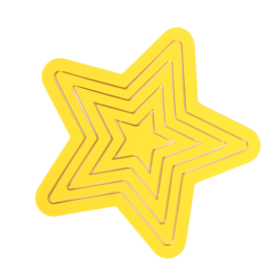 Yellow Parlor Room Self Adhesive 3D Star Design Foam Wall Sticker Decor