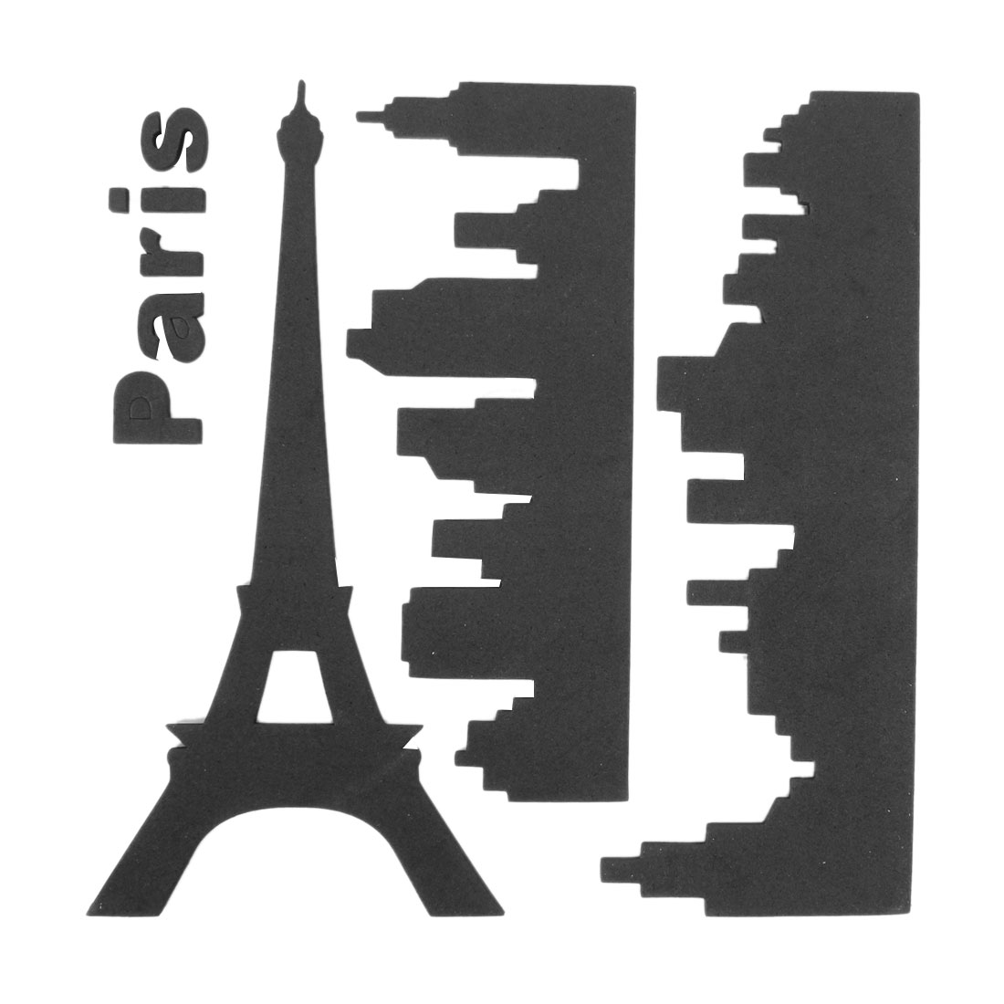 Home Window Decorate Black Foam 3D Eiffel Tower Style Wall Sticker Decal Decor
