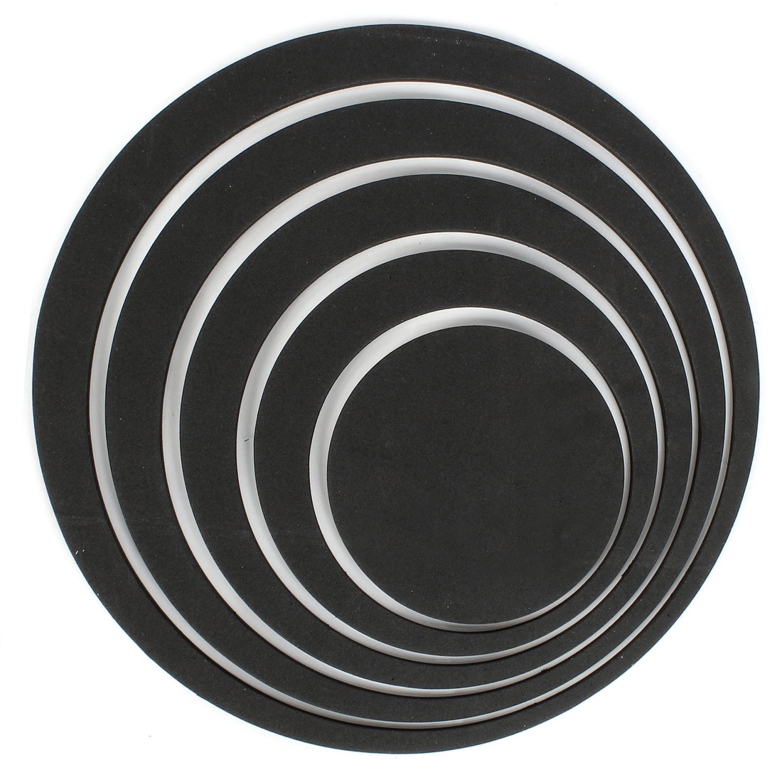 Home Bathroom Decor 3D Circle Shape Foam Wall Sticker Decal DIY Black