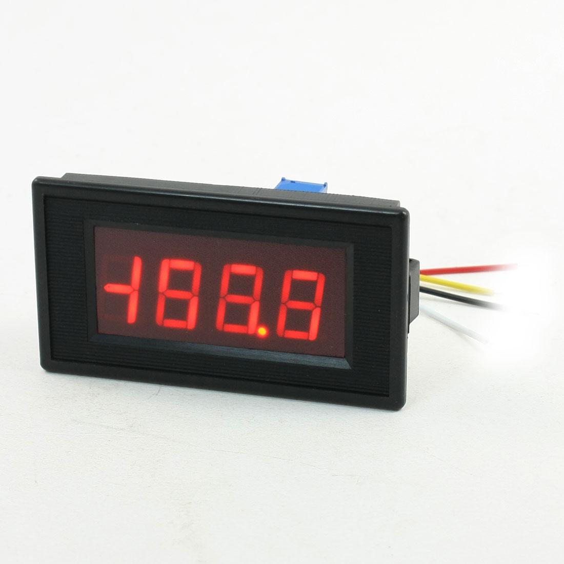 AC 50-200mA 3 1/2 Panel Mount LED Display Digital Ammeter Amperemeter