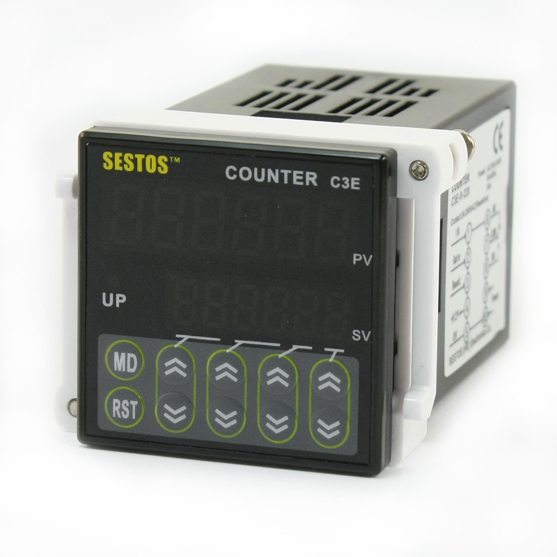 Digital Counter 0.001-99.999 6 Digitals Preset Scale Switch C3E-R-220 Relay