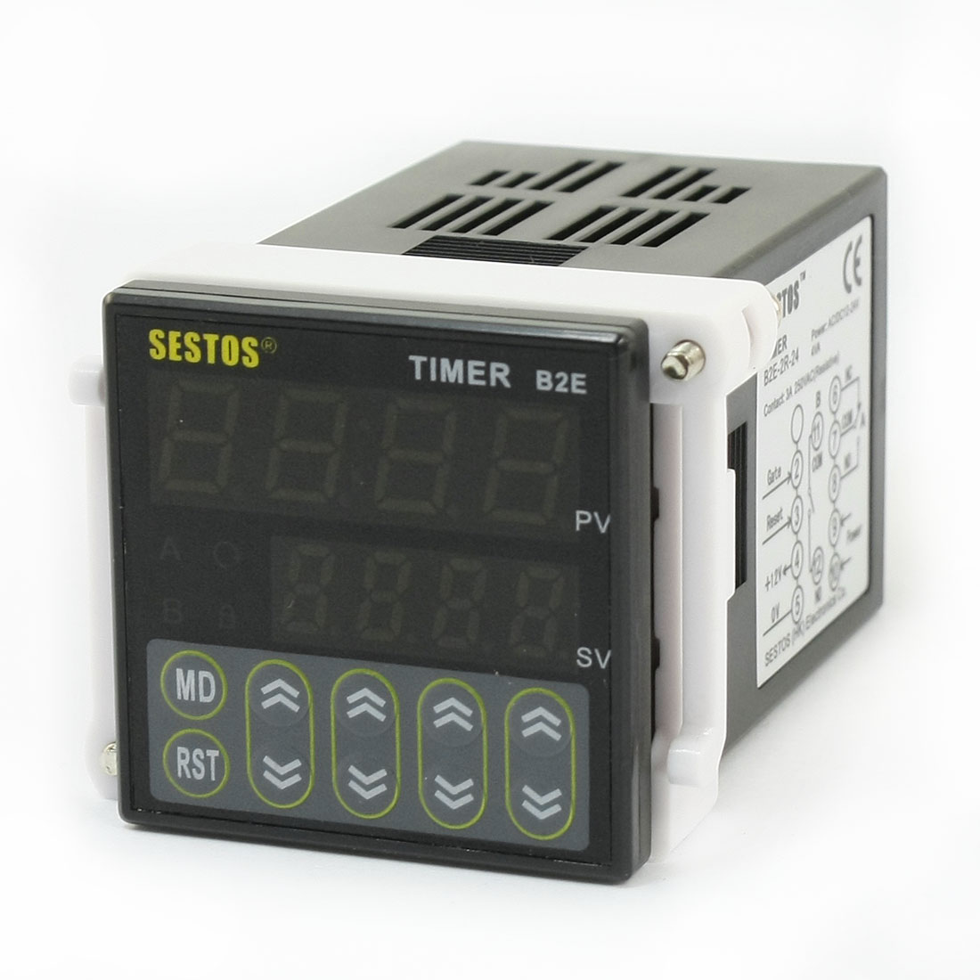 B2E-2R-24 0.01S-99H99M Twin Timer Time Delay 2 Relay Output DC/AC 12-24V