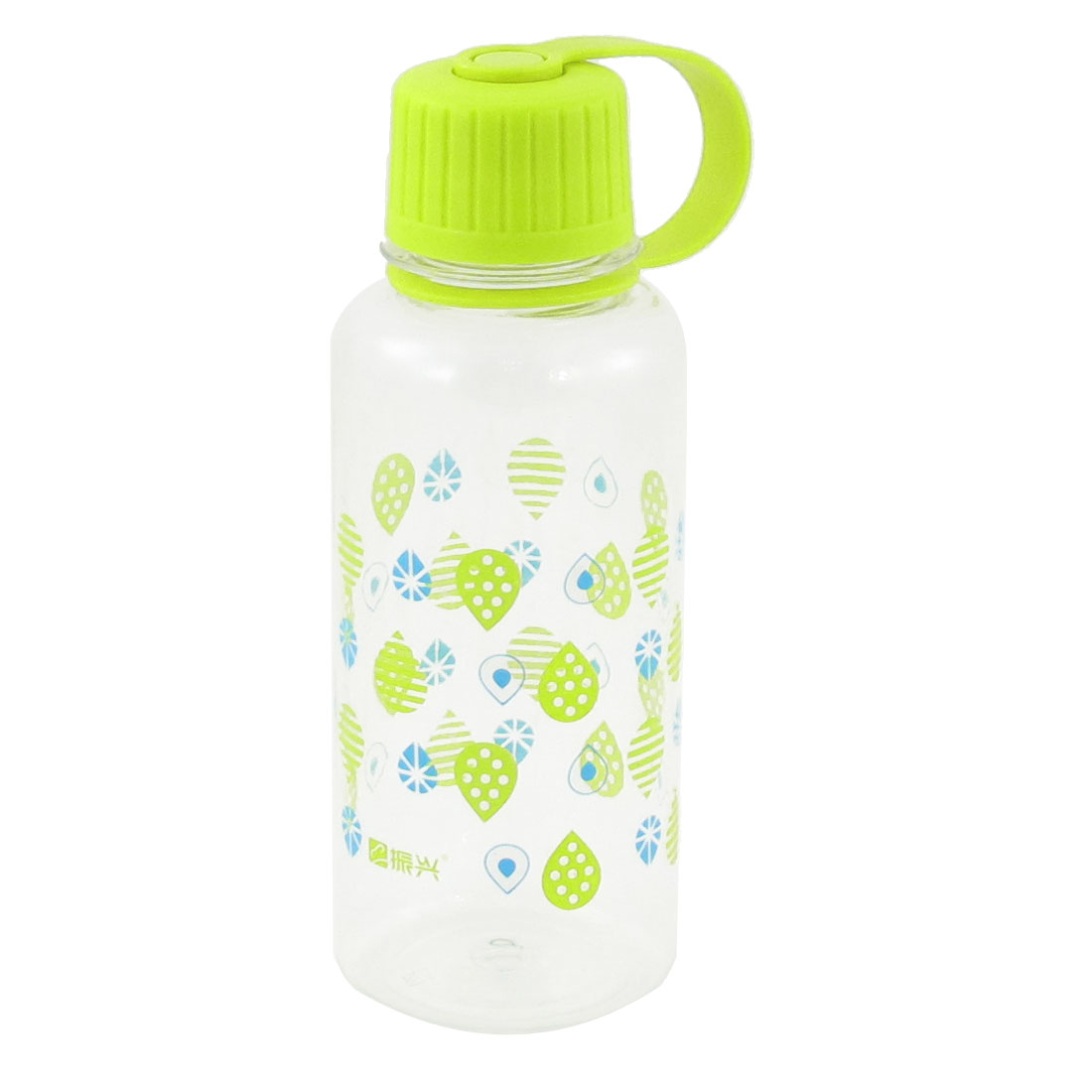 400ml Capacity Pale Green Clear Hard Plastic Water Bottle for Hiking Camping