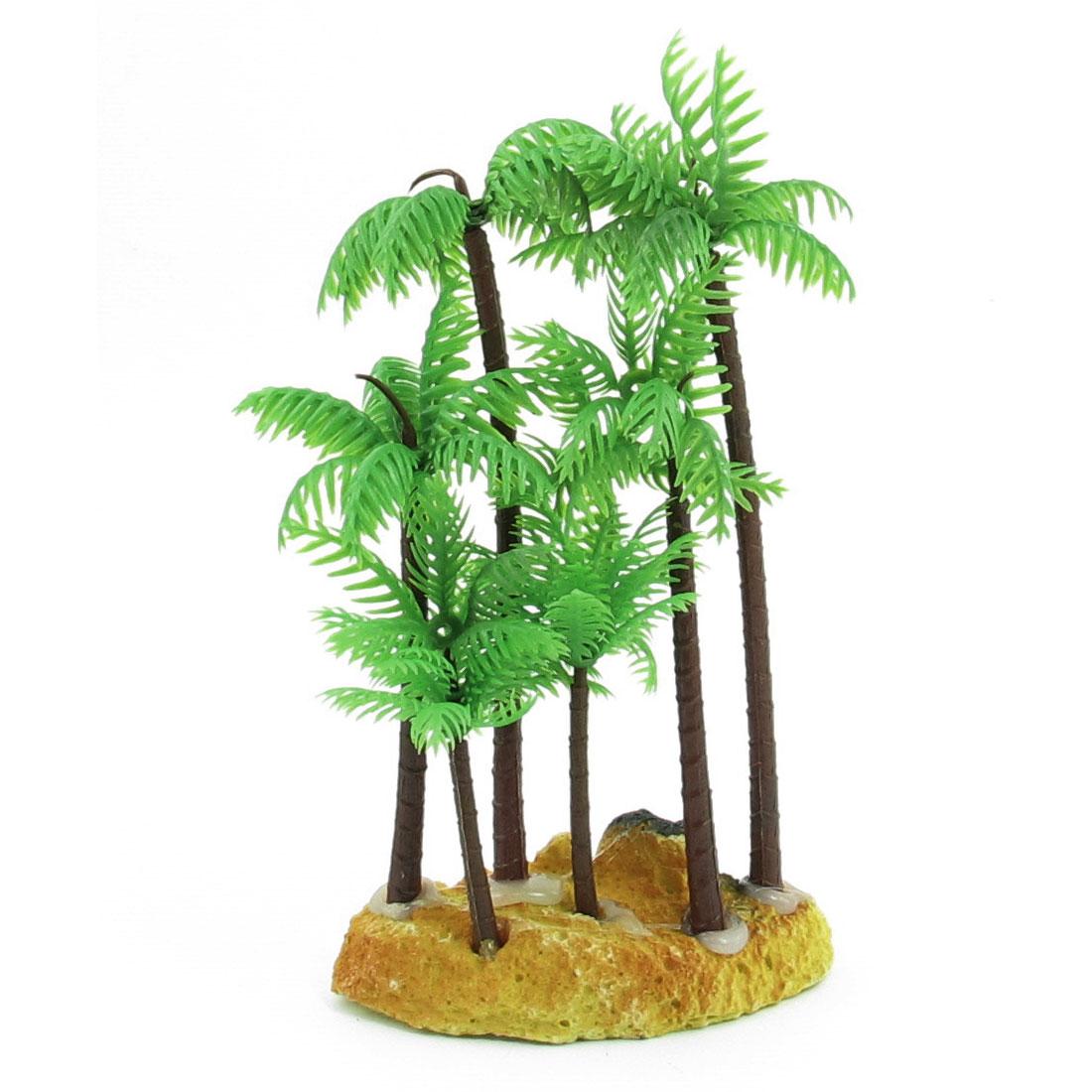 14.5cm Height Aquarium Aquascaping Green Plastic Artificial Aquatic Coconut Palm