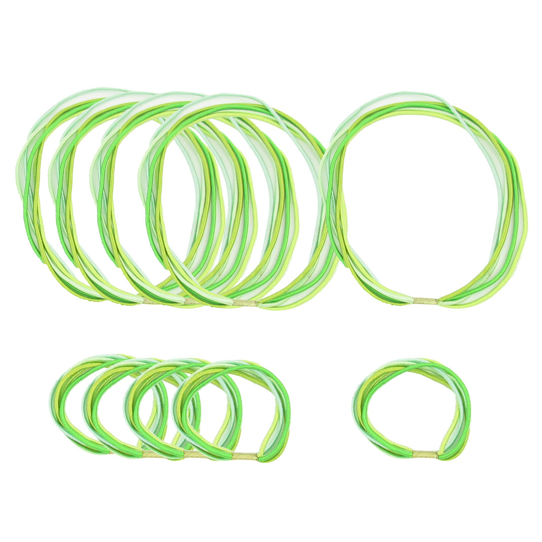 4 Pieces Green DIY Hairstyle Elastic Hair Ties Ponytail Holder