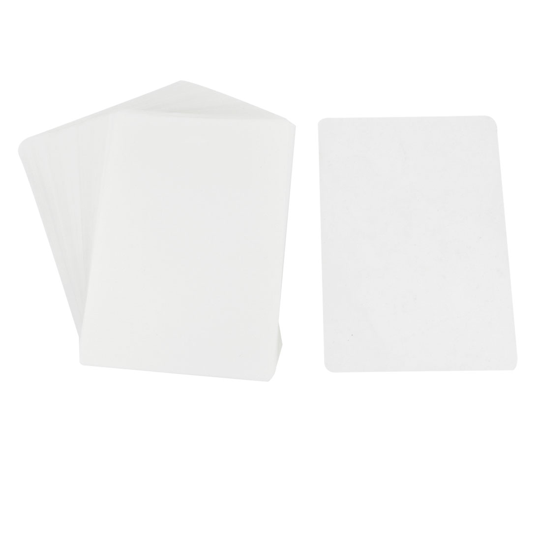 100pcs Clear White Plastic 55mic 4R Protective Photo Laminating Pouch Film