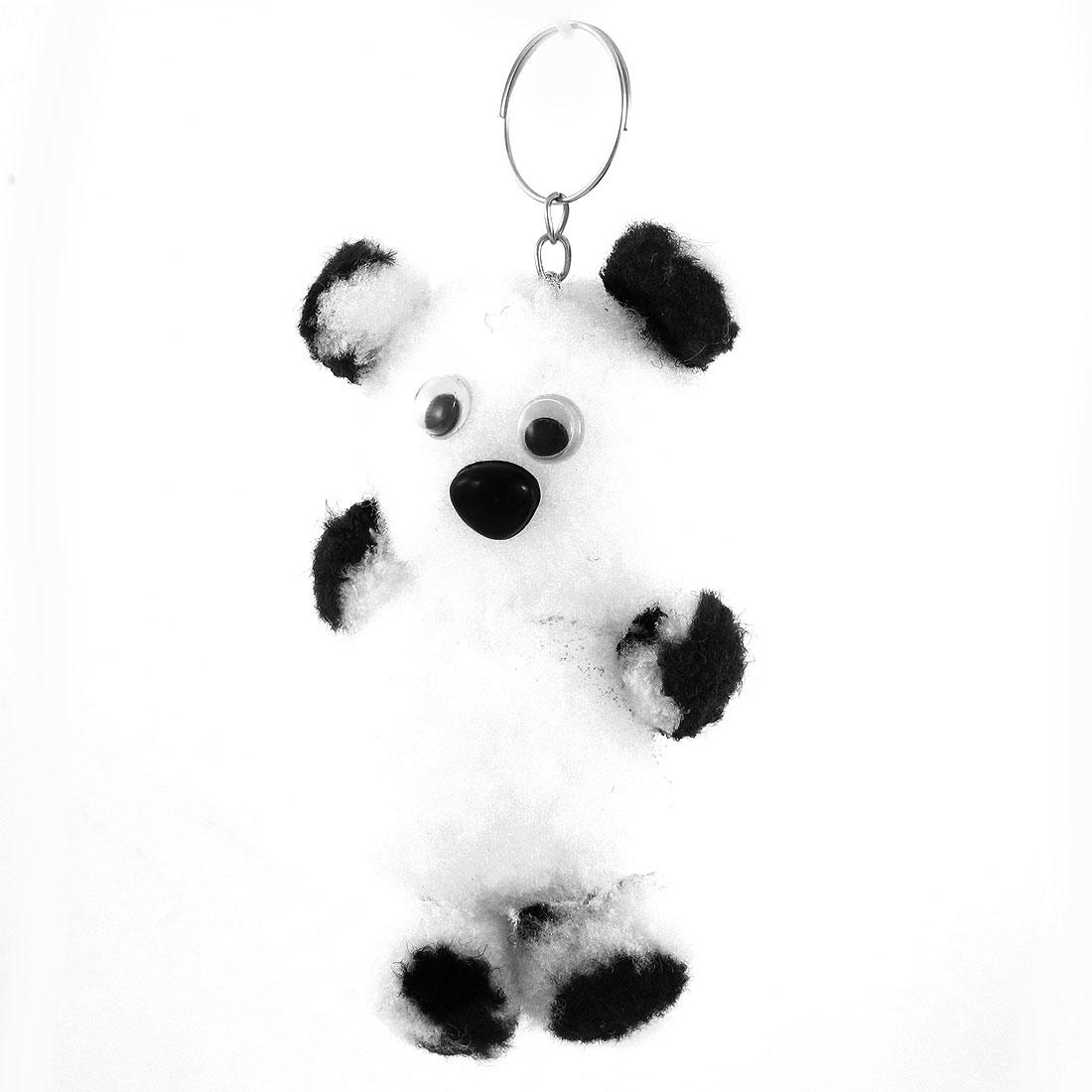 """4.1"""" Length Black White Panda Handbag Backpack Purse Pendant"""