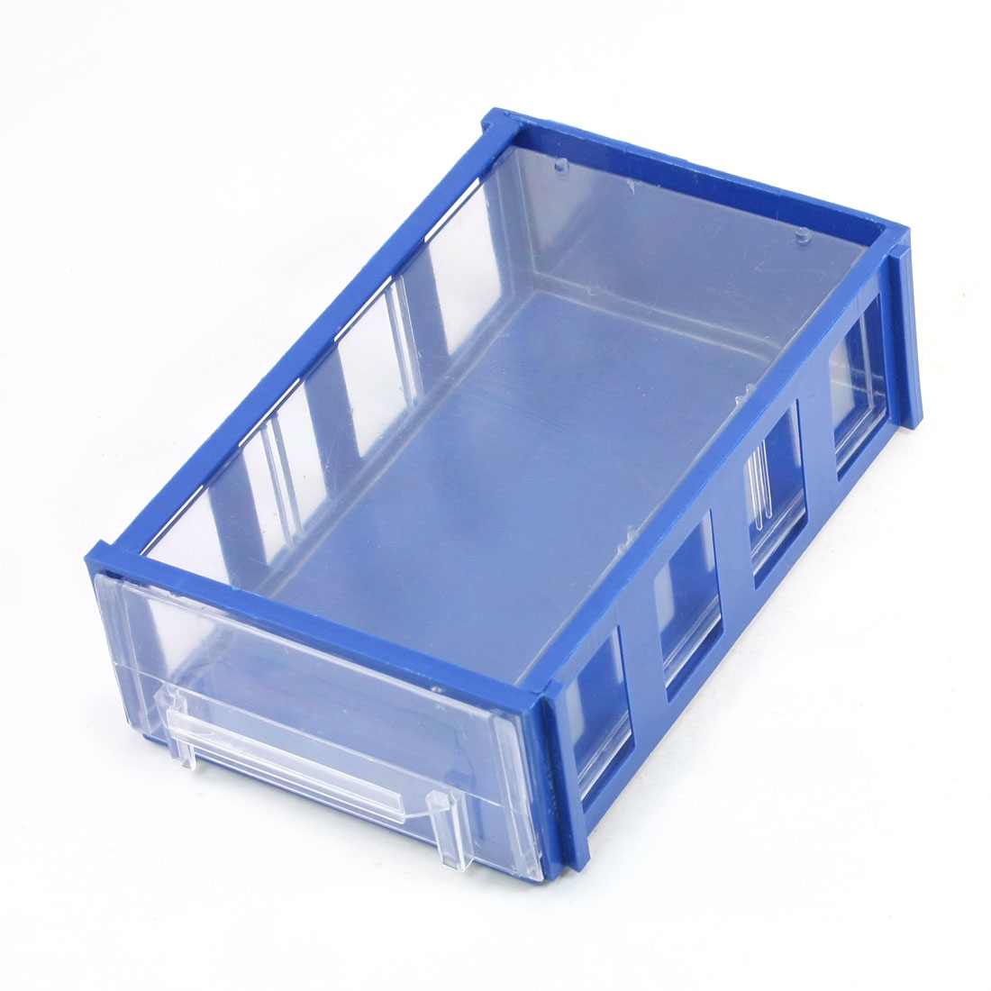 Electronic Components Organizer Storage Box Case Holder Container Blue