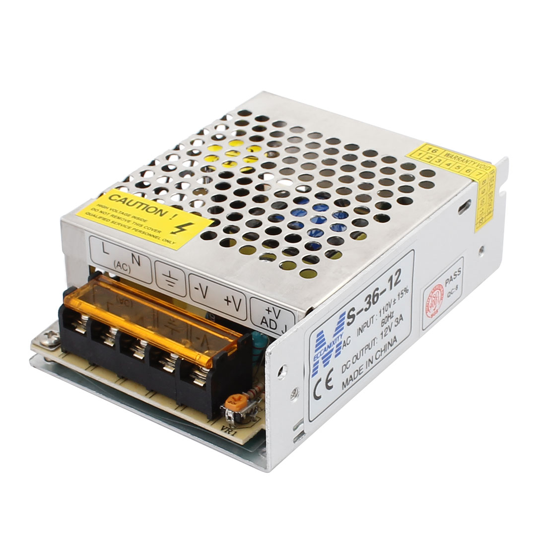 AC 110V to DC 12V 3A LED Regulated Switch Power Supply Driver Adapter