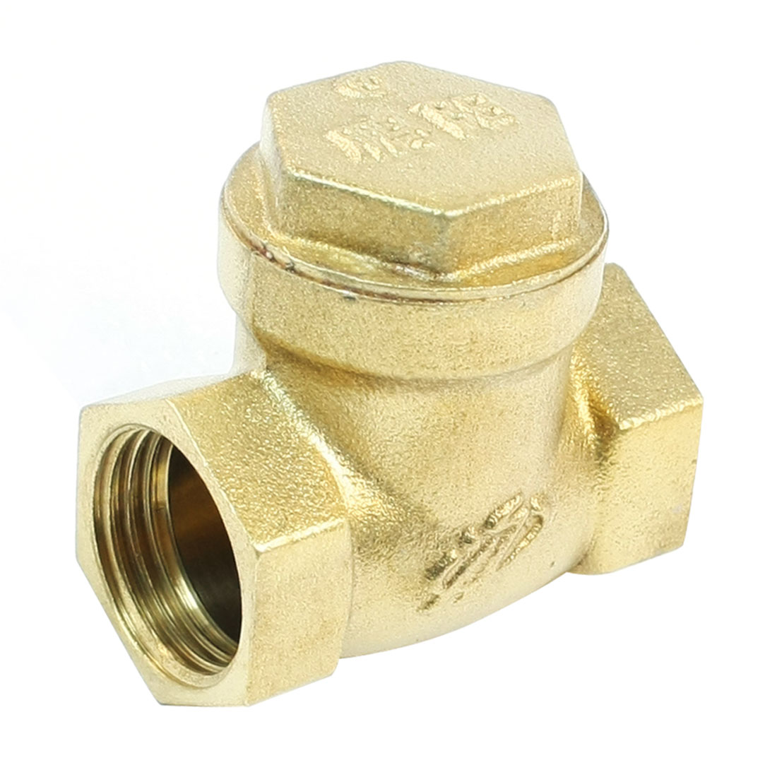 "Brass Tone 1/2""PT Female Thread Plumbing Heater Check Valve"