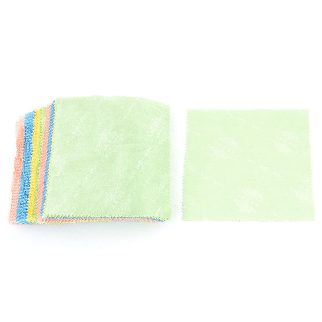100 Pcs Colorful Square Dustless Sunglass Glasses Lens Cleaning Cloth