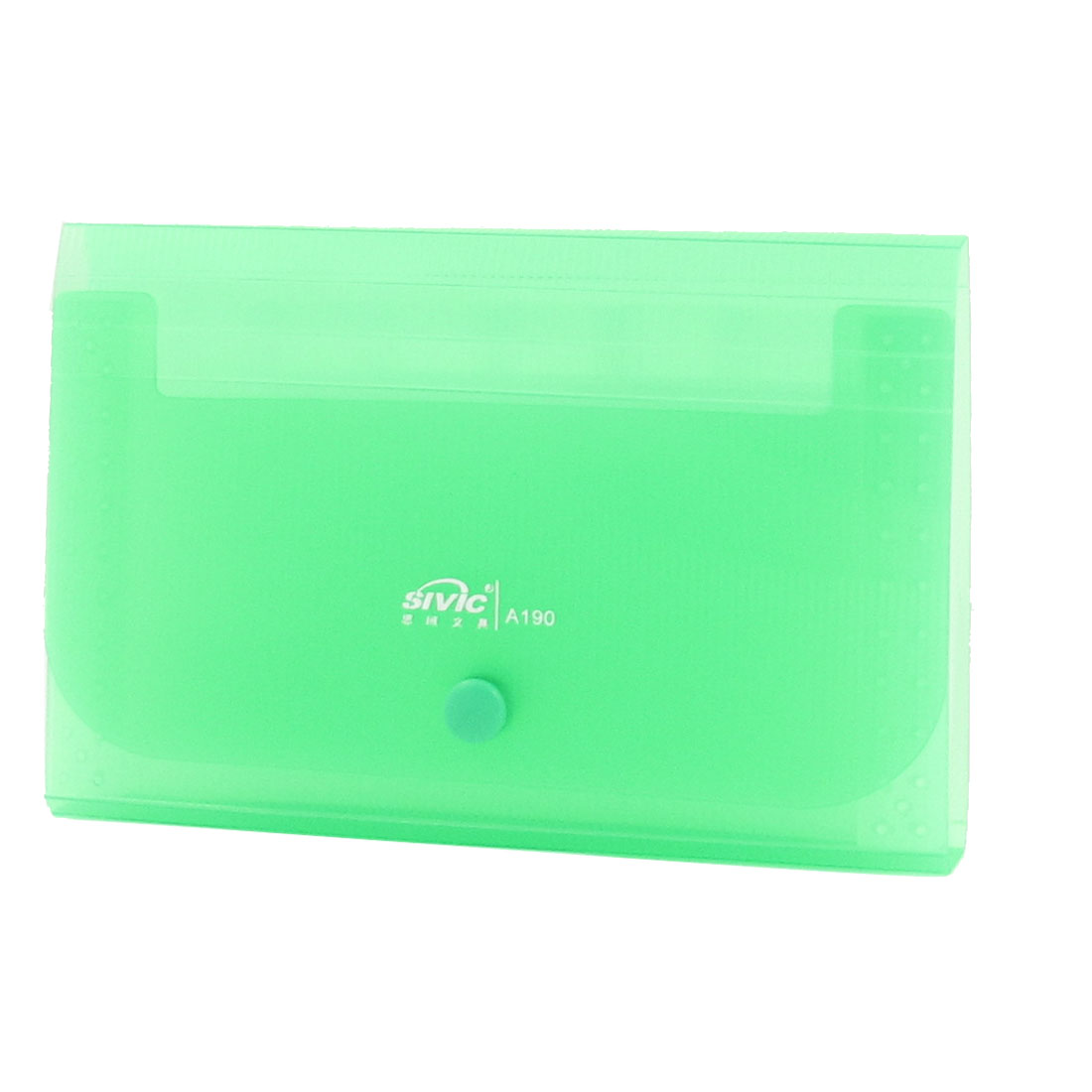 Press Stud Closure 13 Pockets Coupon Receipt Organizer Holder Green