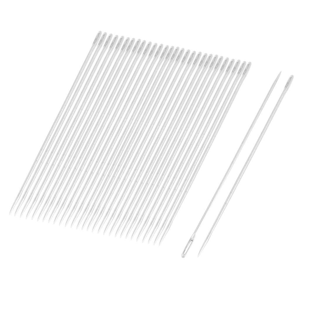 0.6mm Dia Sharp Tip Metal Quilting Tailoring Sewing Needles 30 Pcs