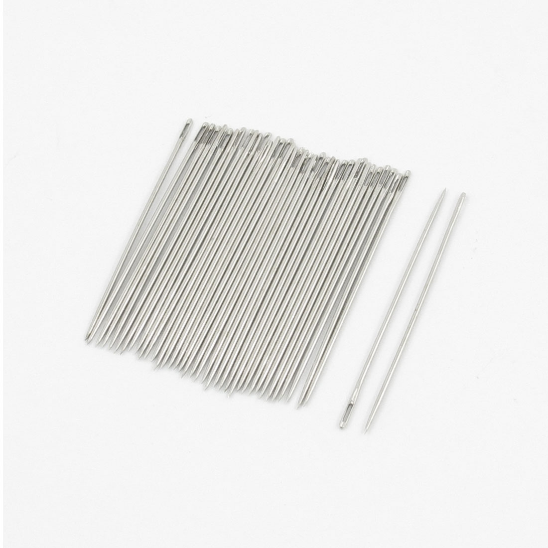 0.4mm Dia Sharp Tip Metal Quilting Stitching Sewing Needles 30 Pcs