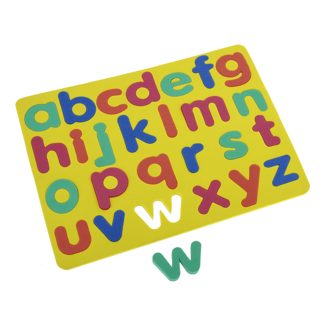 Child Foam 26 English Letter Education Magnetic Jigsaw Puzzle Mat Yellow