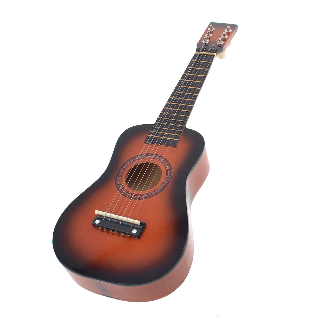 "Red Black Mini Six Strings Wooden Acoustic Ukulele Guitar Toy 23"" for Kid"