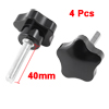 4 Pcs 35mm Star Head Dia M8 x 40mm Male Thread Screw On Type Clamping Knob